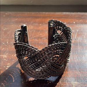 Express woven cuff bracelet
